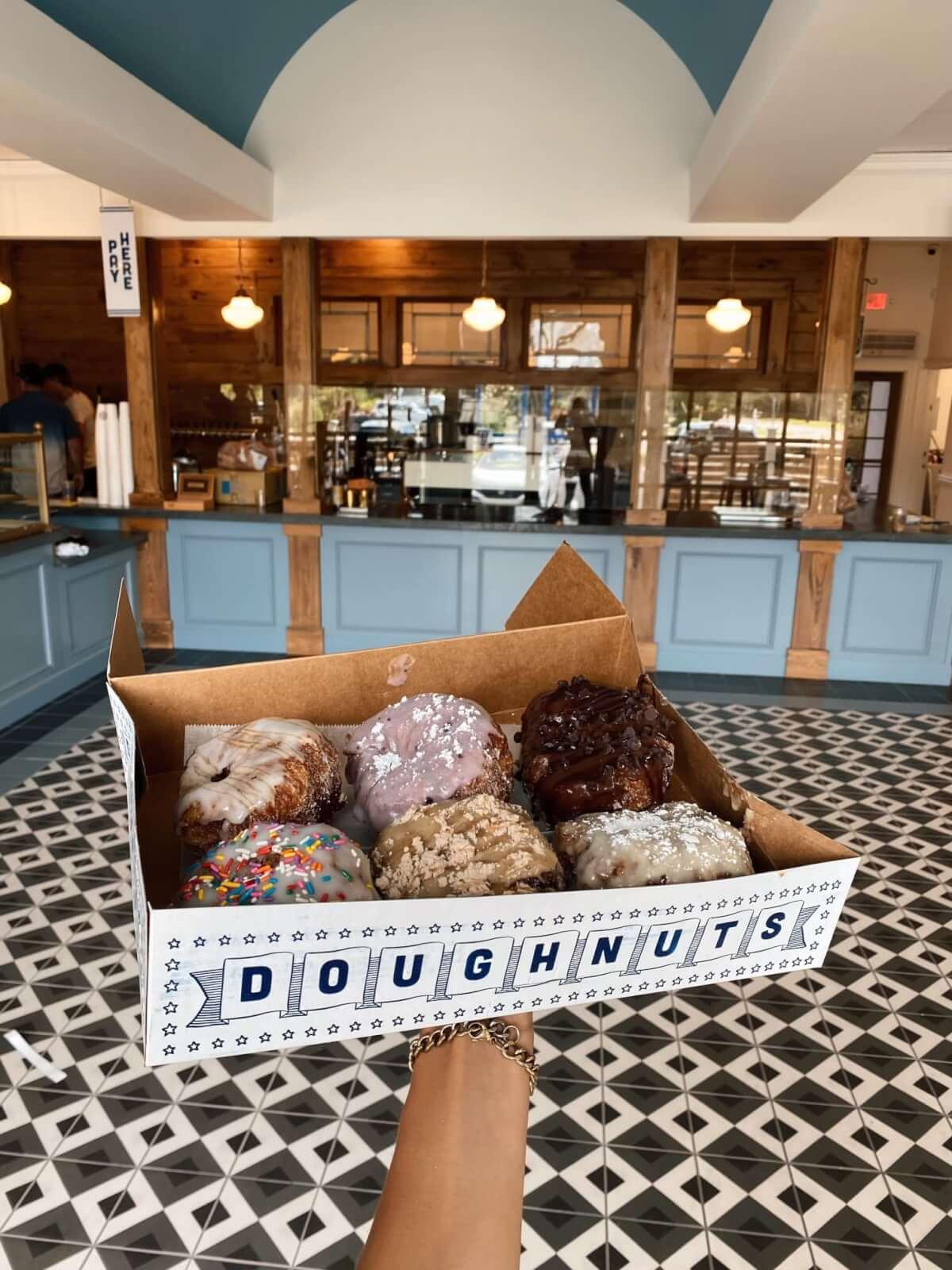 Amazing box of doughnuts