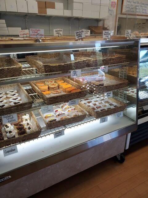 sweets in the case at Pawleys Island Bakery