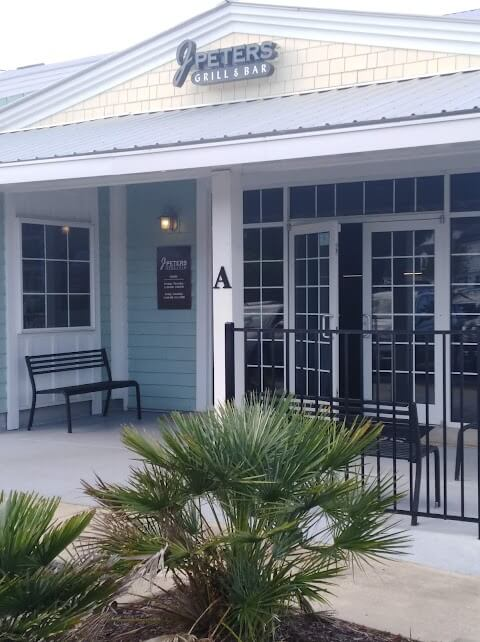 Front view of J Peters Restuarant