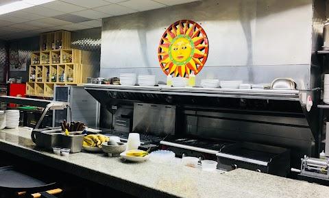 Cook counter at Sol Cocina