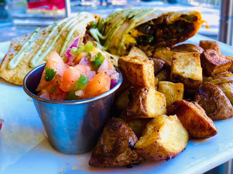 Plate of food at South End Bistro in Palweys Island, SC