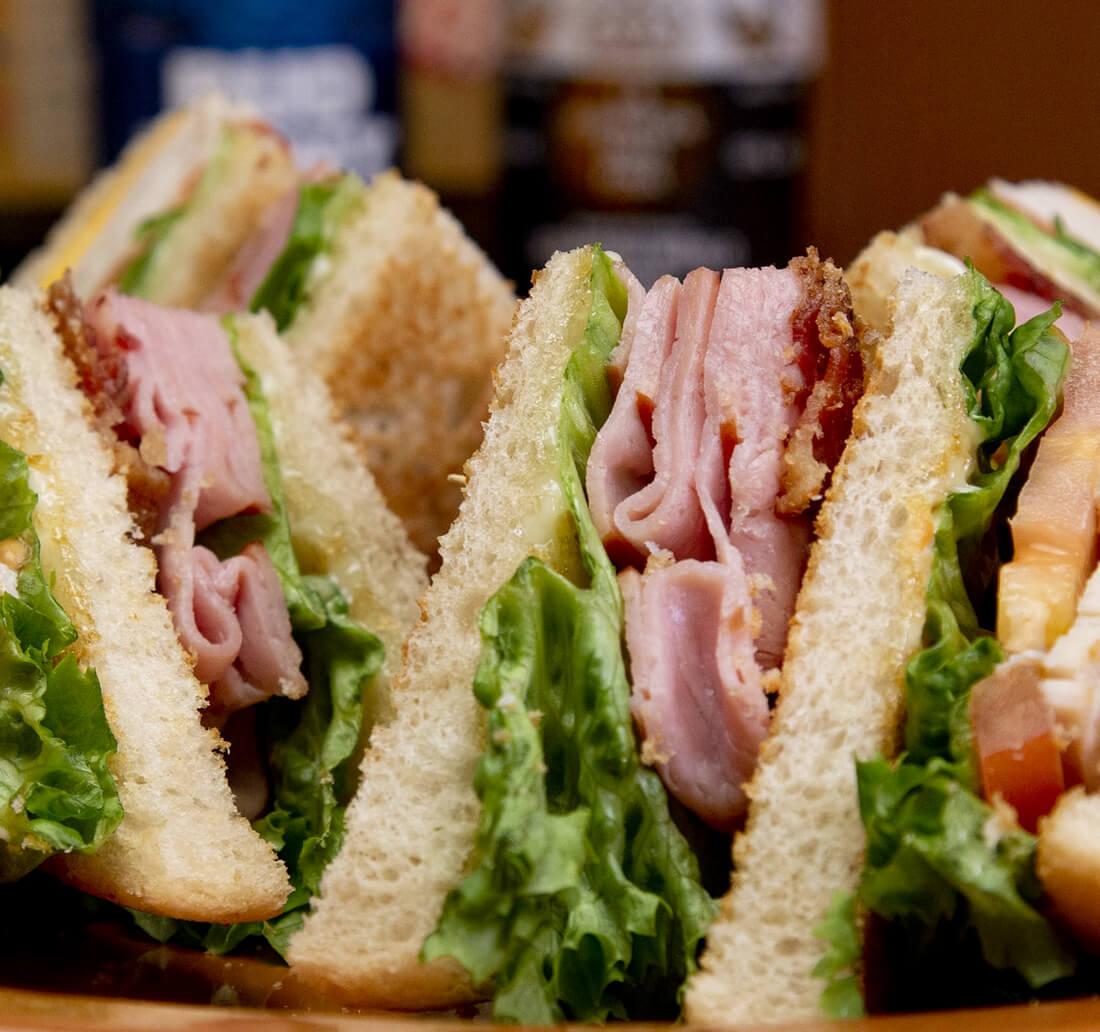 true blue club sandwich