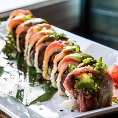 Sushi roll at Yagi's Sushi in Pawleys Island